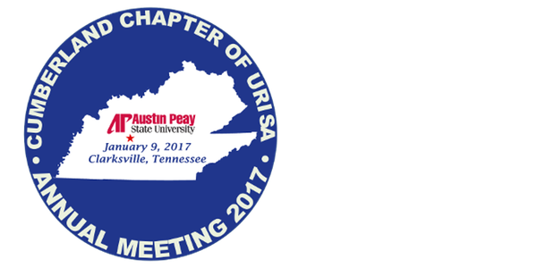 Cumberland Chapter URISA Meeting – January 9-10, 2017